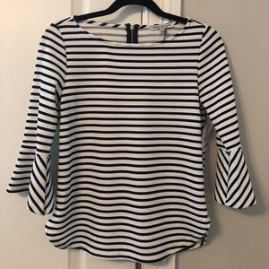 White and black stripped blouse